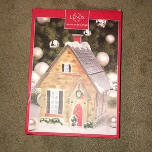 NEW Lenox Home For the Holidays Coolie Jar